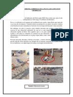 Historia Del Problema Ambiental en La Playa Agua Dulce en Chorrillos