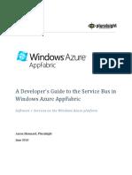 A Developer's Guide to Service Bus in Windows Azure AppFabric