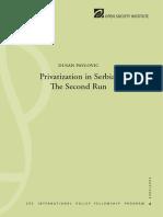 Privatization in Serbia