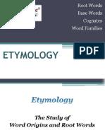 Etymology Root Words