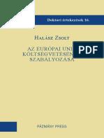 Az Európai Unió költségvetésének szabályozása