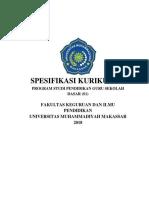 Spesifikasi Kurikulum Prodi Pgsd (s1)_2018_terbaru Sekali-2 - Copy