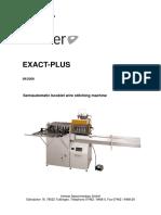 09 2008 EXACT PLUS Bedienungsanleitung Englisch Ab EPN0408022