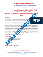 Current harmonics Reduction of Three Phase Grid Connected Pulse Width Modulated Voltage Source Inverter by Hysteresis Current Controller with Offset Band