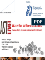 Water Composition for Coffee