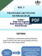 Transaksi Akuntansi Mudharabah