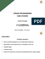 Linear Programming_case Studies