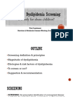 Dyslipidemia Screening IDAI Jaya Scientific Meeting Dr Titis Prawitasari, Sp.a(K)