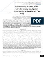 Performance Assessment of Medium Water Storage Infrastructures using Geo-Spatial Techniques; Satara District, Maharashtra A Case Study