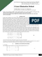Modified Gauss Elimination Method