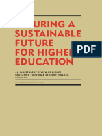 The Browne Report - Securing a Sustainable Future for Higher Education