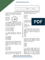 Simulado/atividade 26 Matemática para 4º e 5° ano