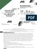 Manual radio jvc