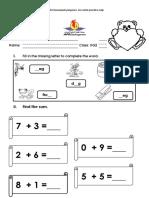English & Math Practice Sheets