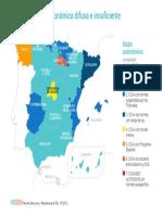 REDER, mapa autonómico (octubre 2018)