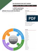 Analisis Visi, Misi Dan SWOT Pada Badan Pengelola Keuangan Dan Aset Daerah (BPKAD) Pemerintah Kota Bekasi – BADAN PENGELOLAAN KEUANGAN DAN ASET DAERAH