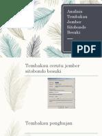 Analisis Tembakau Jember Sitobondo Besuki