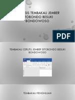 Analisis Tembakau Jember Sitobondo Besuki Bondowoso