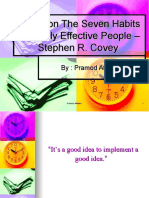 Seven Habits of Highly