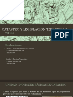 Catastro y Legislacion Territorial i