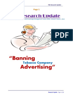 BANNING Tobacco Company Advertising
