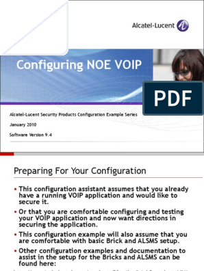 Configuring NOE VoIP | Voice Over Ip | Firewall (Computing)