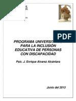 Inclusion Educativa de Personas Con Discapacidad Plan UAEM