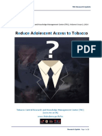 Reduce Adolescent Access to Tobacco