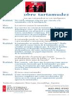 Mitos de La Tartamudez