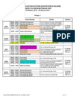 Jadwal Kuliah Magister Kedokteran Klinik 24 Okt'2016
