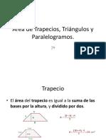 Área de Trapecios, Triángulos y Paralelogramos