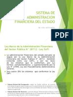 Sistema de Administracion Financiera Del Estado