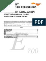 FR E700 Manual de Instalación