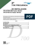 FR D700 Manual de Instalación