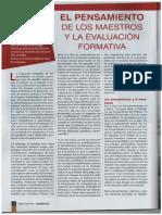 El Pensamiento de Los Maestros y La Evaluación Formativa