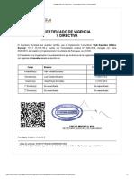 Certificado de Vigencia - Atletico Bucarey