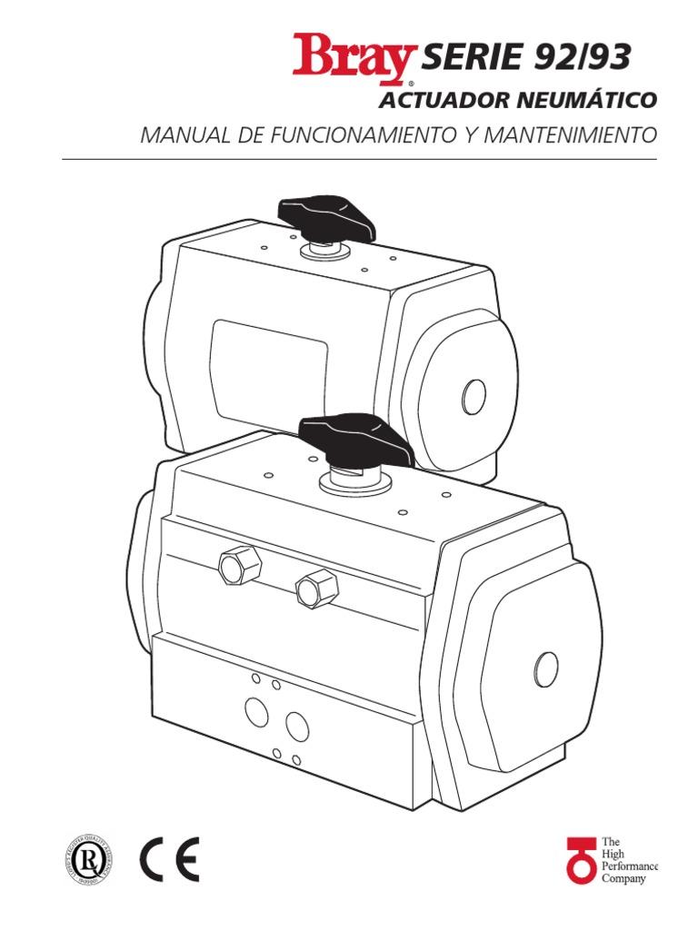 Manual de Operacion y Mantenimiento Actuador Neumatico