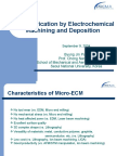 Micro-Fabrication by ECM and Deposition