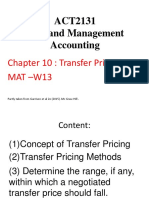 ACT2131 S W13 T10 Transfer Pricing