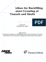 AUA Guidelines Backfilling and Contact Grouting Tunnels and Shafts