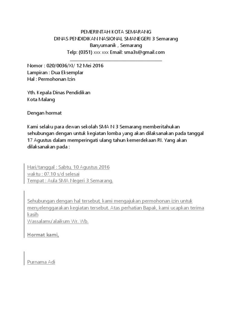 Surat Resmi Pemerintah Kota Semarang