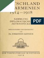Germanii si armenii 1914-1918 de Johannes Lepsius