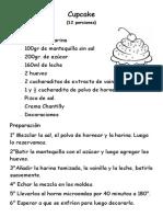 Receta Cup Cake