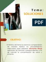 Soluciones y Concentraciones Quimicas I Nivel