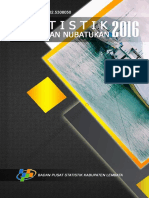 Statistik Daerah Kecamatan Nubatukan 2016