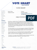 Vote Smart Dave Joyce letter