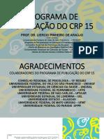 Apresentação LIVRO CRP15