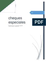 Cheques Especiales