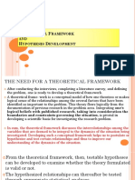 Lecture 5 (Theoretical Framework and Hypothesis Development)