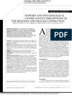 Spiritual Support and Psychological Well-being Older Adults' Perceptions of the Religion and Health Connection